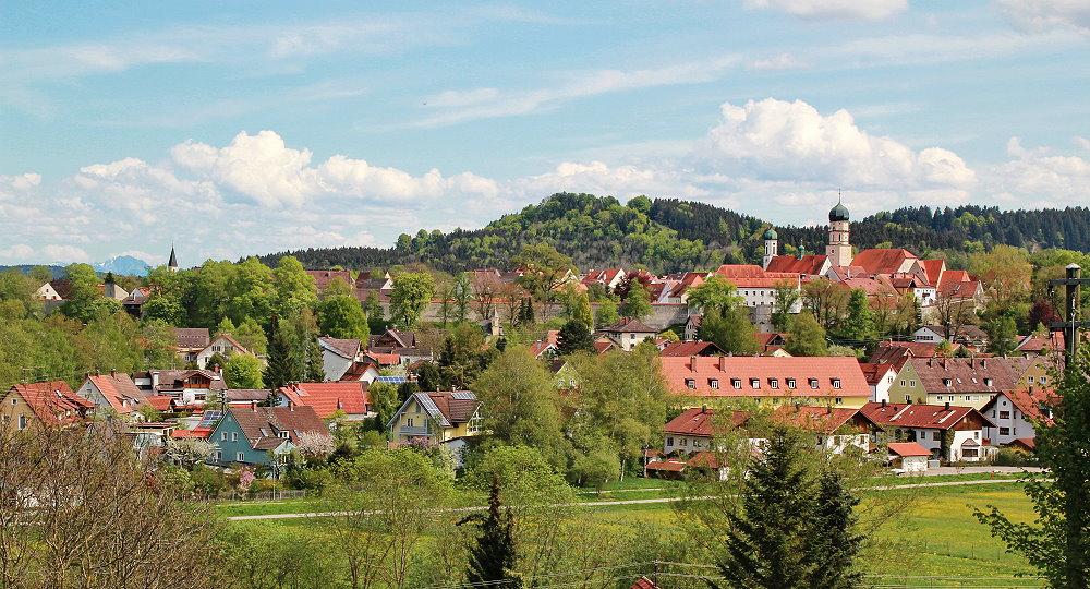 Blick auf die Stadt Schongau